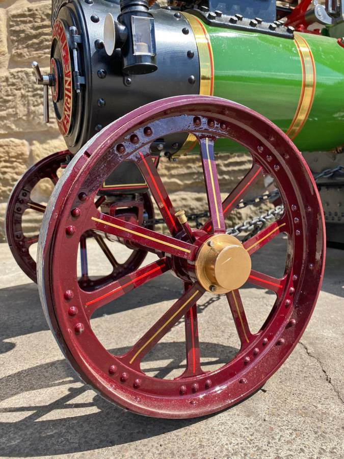 test 3 inch scale Burrell Traction Engine Plastow Live Steam for sale (4)
