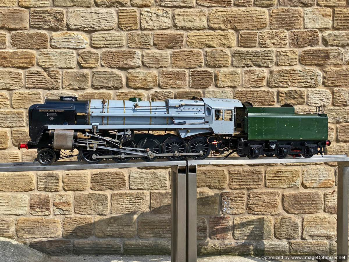 test 5 inch BR 9F Modelworks Live Steam Locomotive for sale (2)