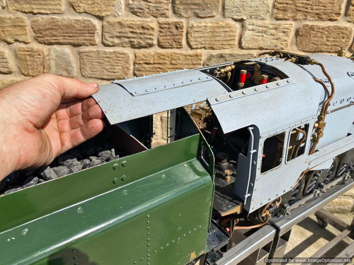 test 5 inch BR 9F Modelworks Live Steam Locomotive for sale (22)