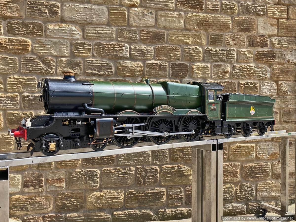 test 5 inch gauge GWR King Class Live Steam model for sale (1)