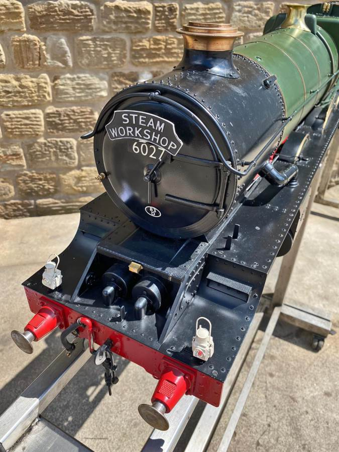 test 5 inch gauge GWR King Class Live Steam model for sale (18)