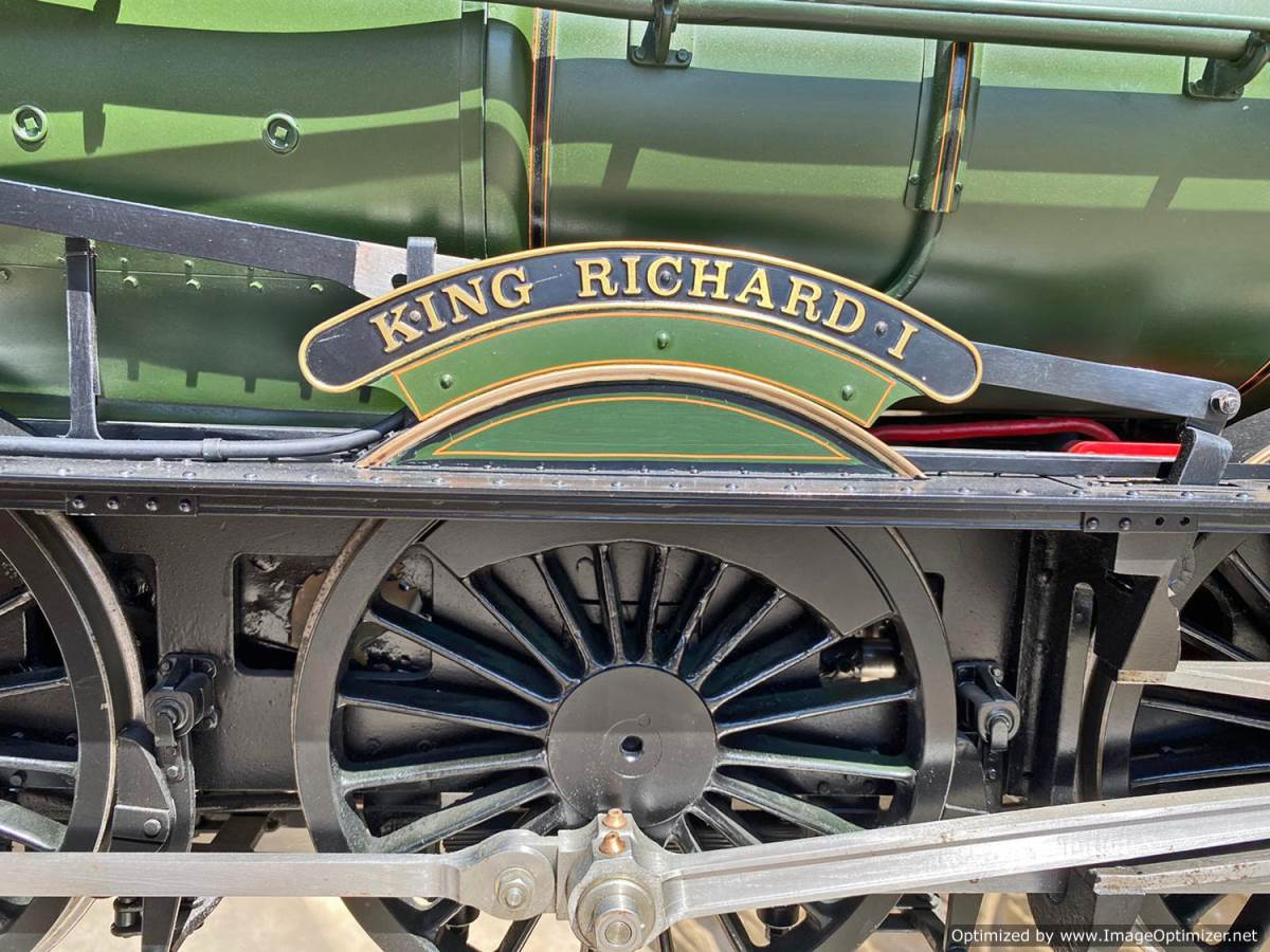 test 5 inch gauge GWR King Class Live Steam model for sale (27)