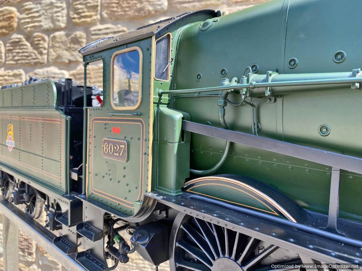 test 5 inch gauge GWR King Class Live Steam model for sale (41)