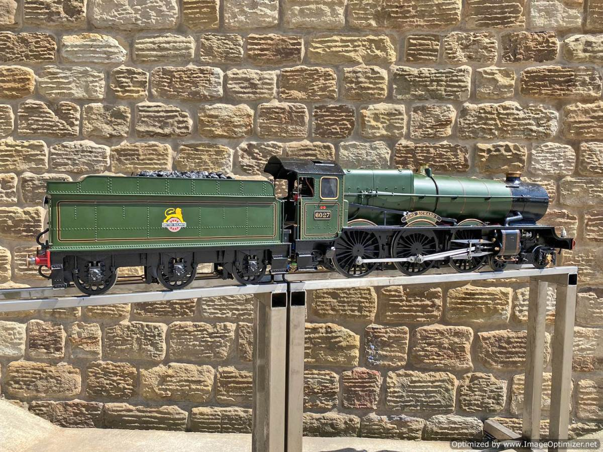test 5 inch gauge GWR King Class Live Steam model for sale (42)