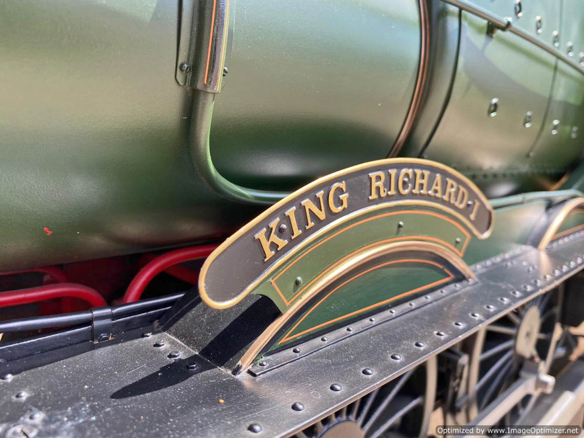 test 5 inch gauge GWR King Class Live Steam model for sale (9)