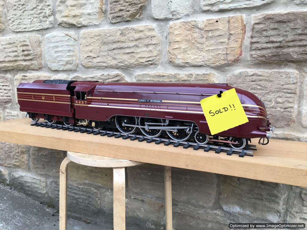 test Gauge-3-LMS-Coronation-live-steam-SOLD