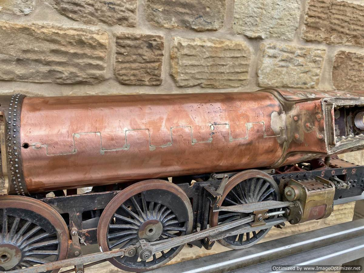 test 3 and a half inch Gauge GWR King Part Built Live Steam Loco for Sale (16)
