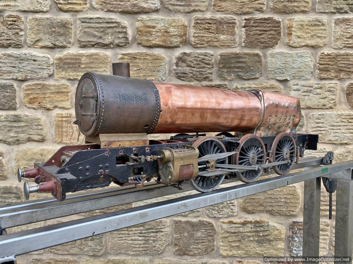 test 3 and a half inch Gauge GWR King Part Built Live Steam Loco for Sale (2)