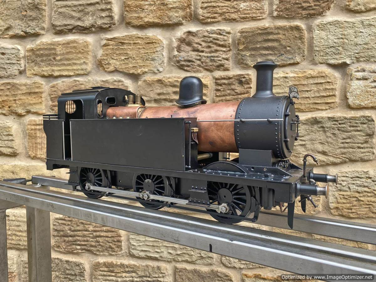 test 3 and a half inch LMS Jinty 3F Live Steam Locomotive for sale (1)