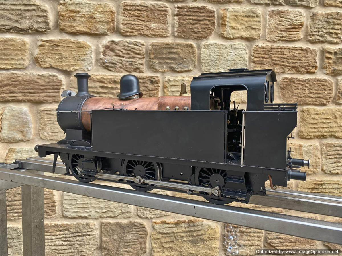 test 3 and a half inch LMS Jinty 3F Live Steam Locomotive for sale (15)