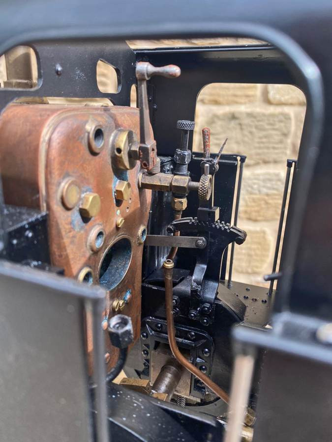 test 3 and a half inch LMS Jinty 3F Live Steam Locomotive for sale (22)