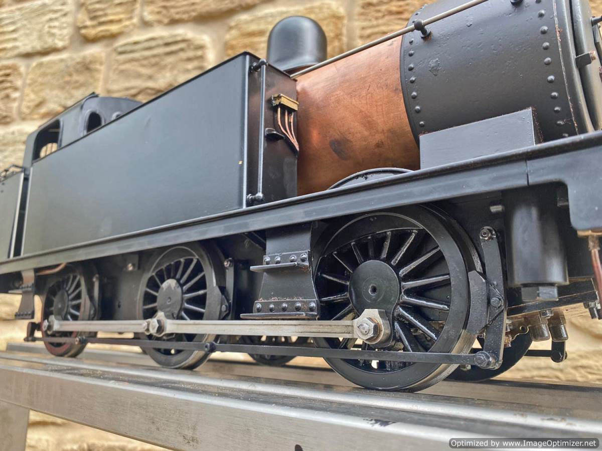 test 3 and a half inch LMS Jinty 3F Live Steam Locomotive for sale (3)