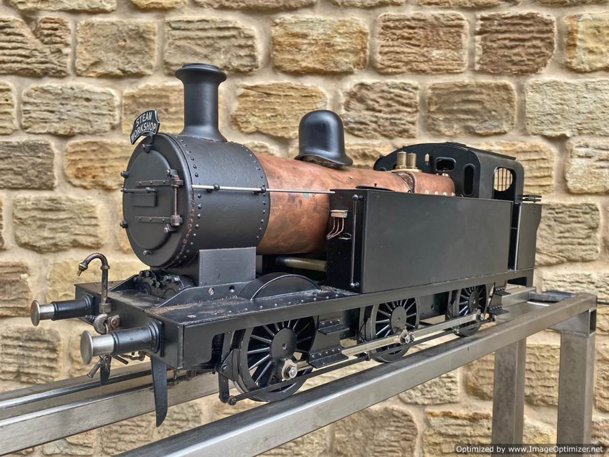 test 3 and a half inch LMS Jinty 3F Live Steam Locomotive for sale (9)