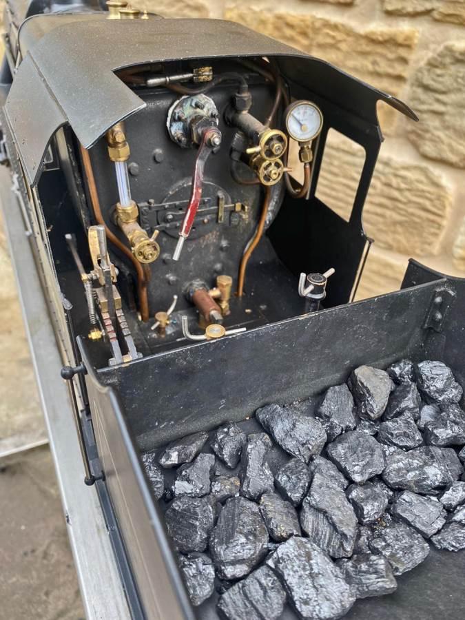 test 3 and a half inch LMS Stanier Mogul Princess Marina Live Steam Model For Sale (12)