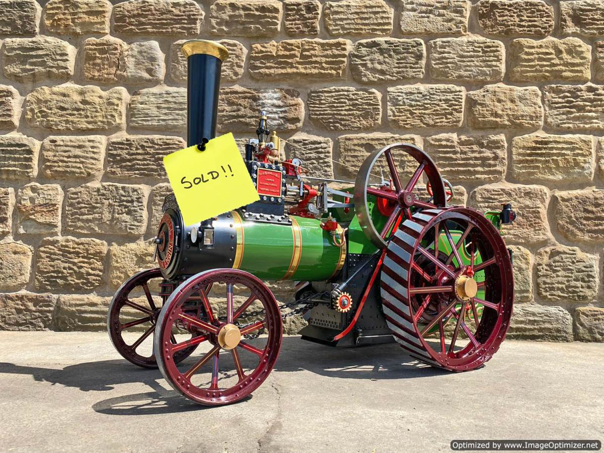 test 3-inch-scale-Burrell-Traction-Engine-Plastow-Live-Steam-SOLD