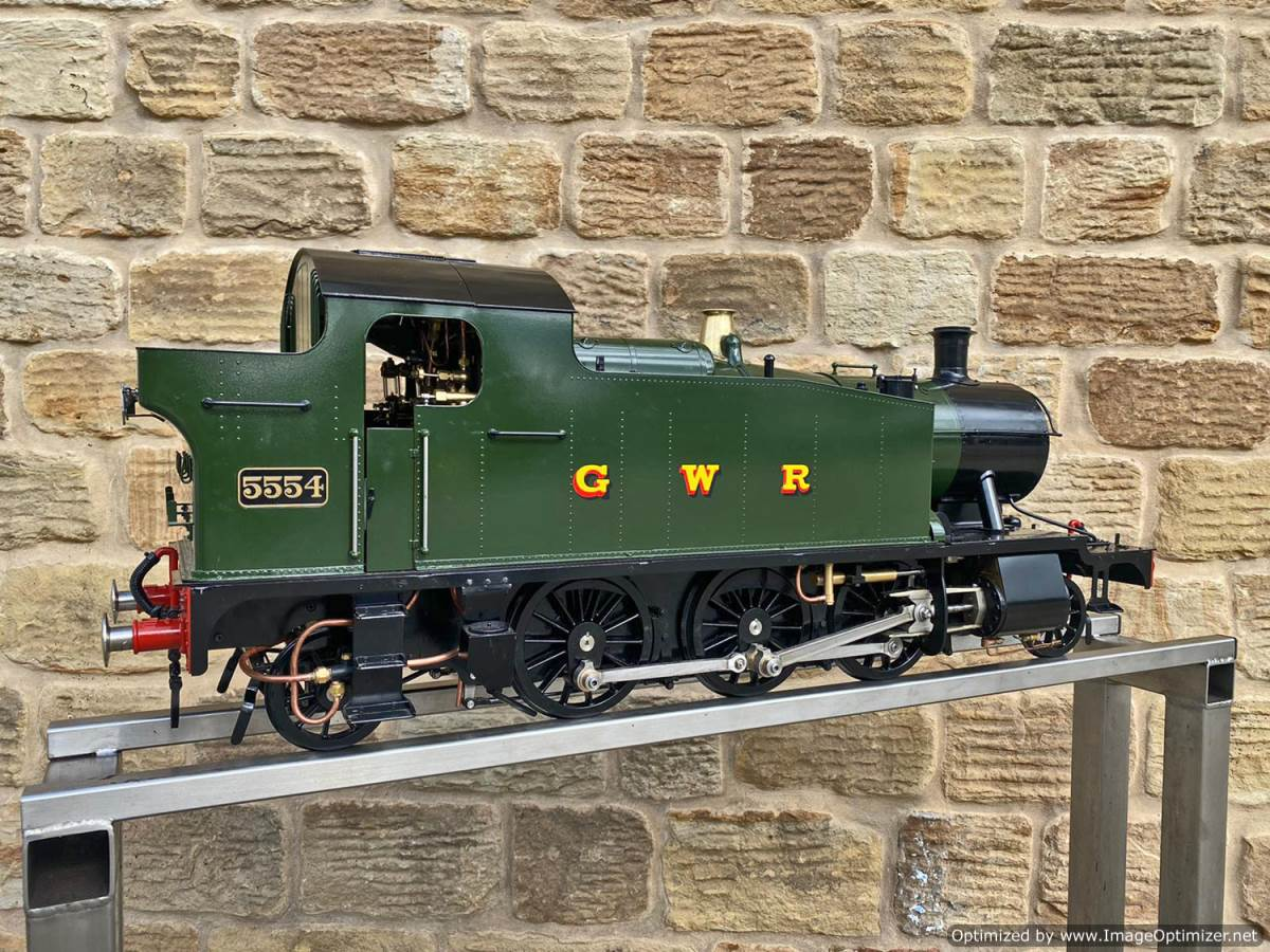 test 5 inch GWR Prarie Kingscale live steam locomotive for sale (1)