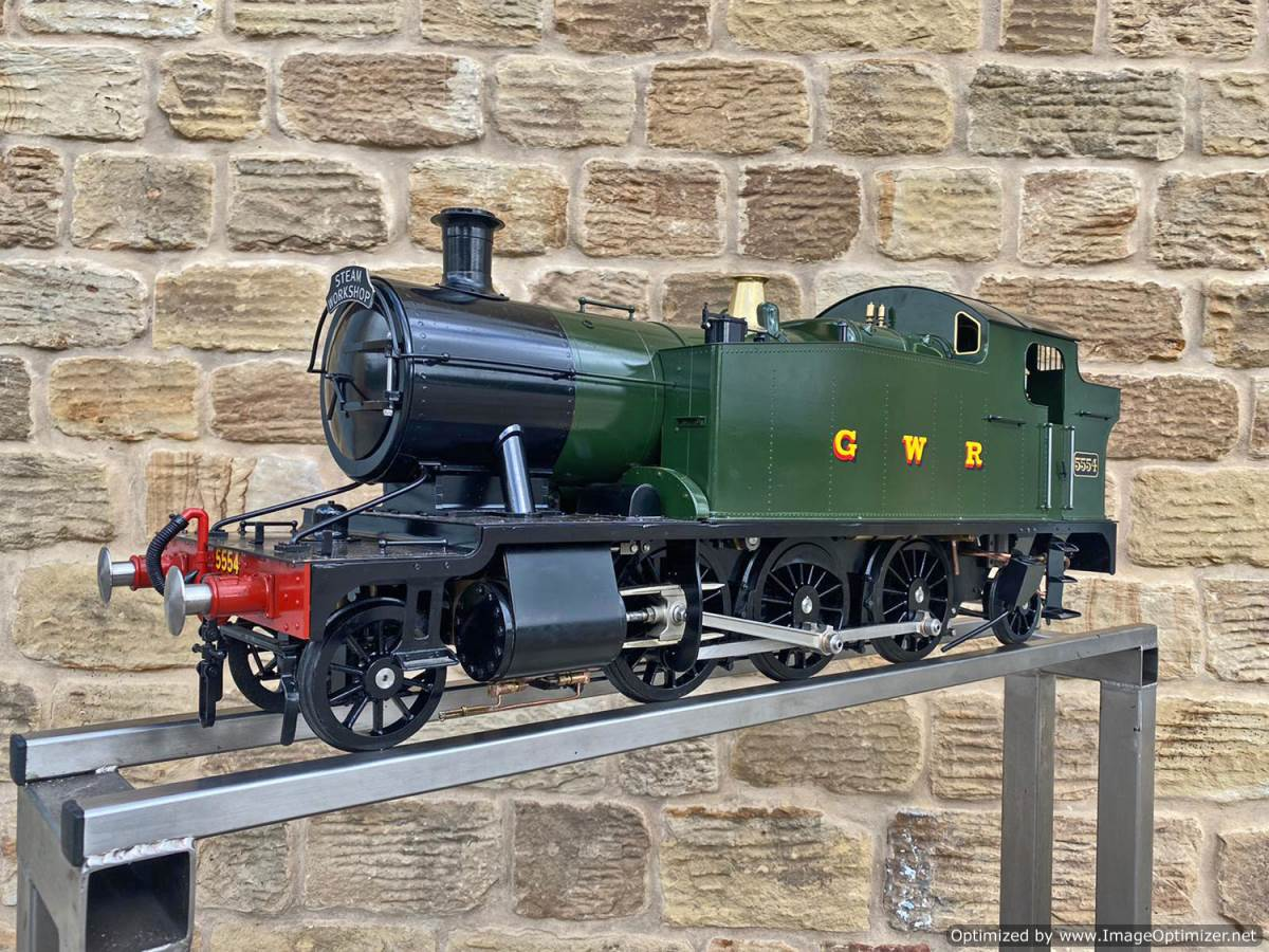 test 5 inch GWR Prarie Kingscale live steam locomotive for sale (11)