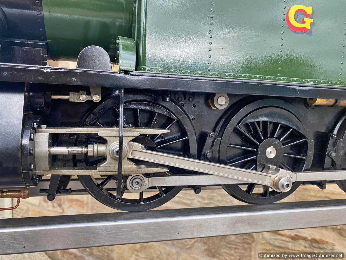 test 5 inch GWR Prarie Kingscale live steam locomotive for sale (14)