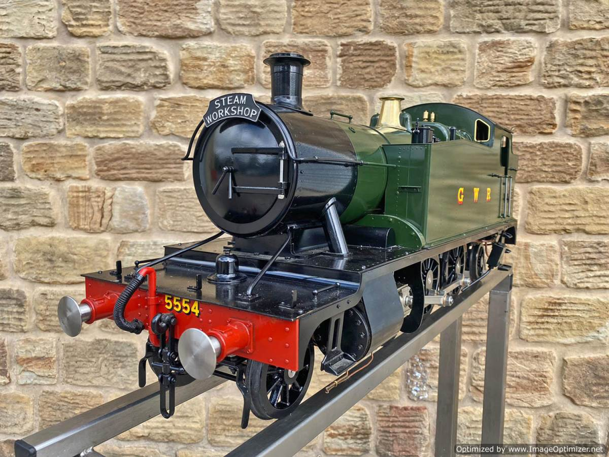 test 5 inch GWR Prarie Kingscale live steam locomotive for sale (18)