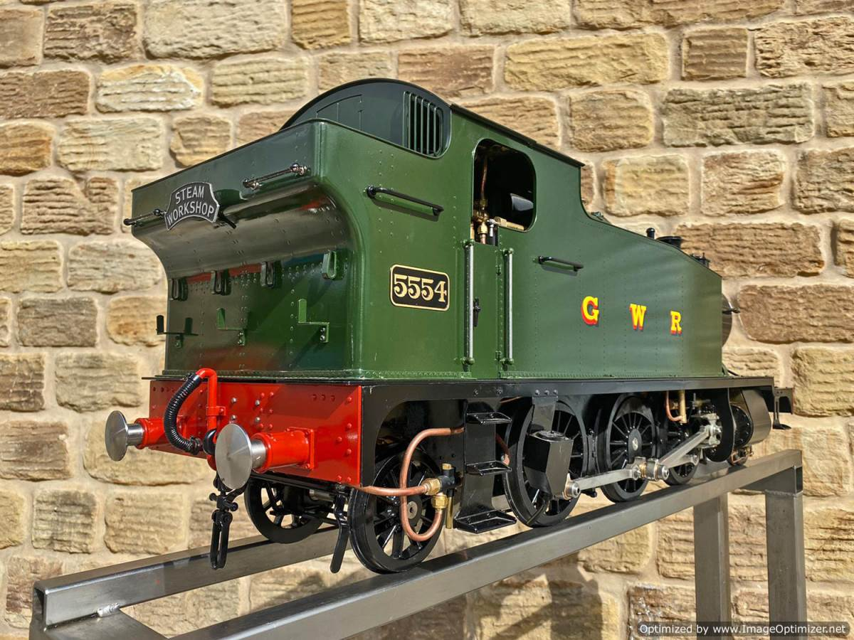 test 5 inch GWR Prarie Kingscale live steam locomotive for sale (3)