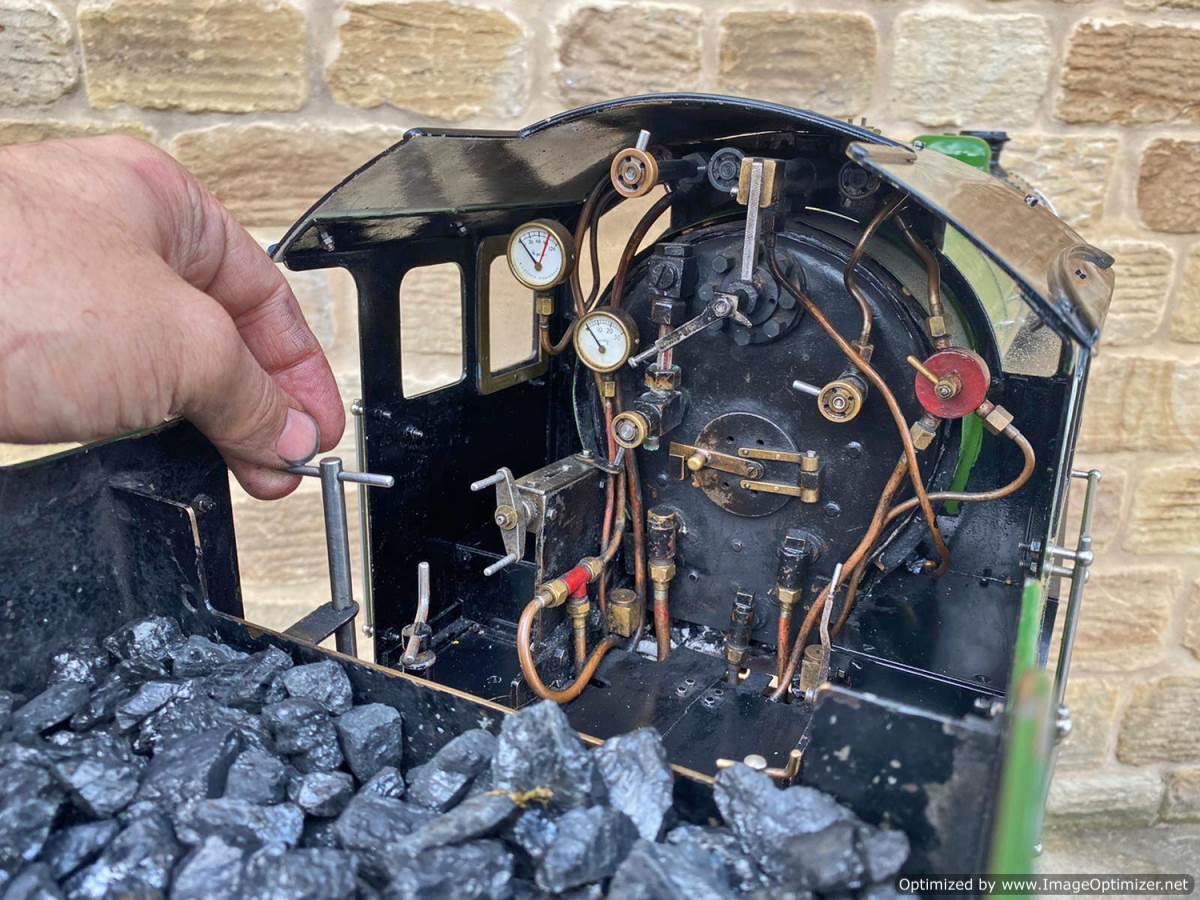 test 5 inch LNER B1 Springbok Live Steam for Sale (25)