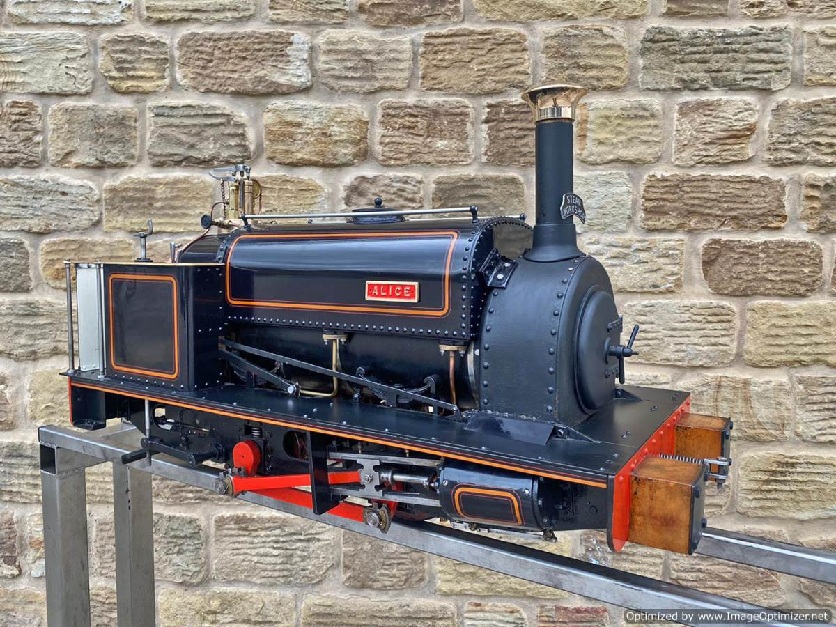 test 5 inch Quarry Hunslet Live Steam For Sale (1)