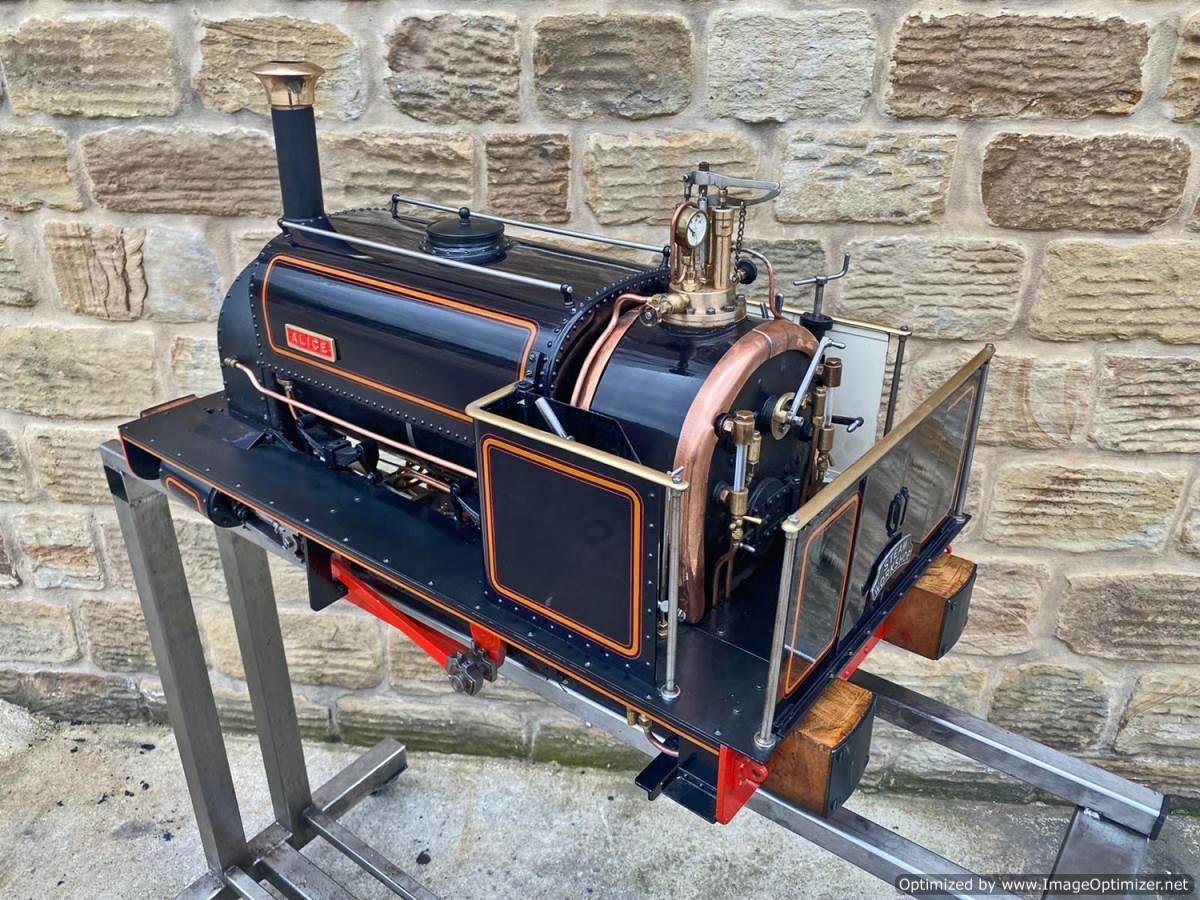 test 5 inch Quarry Hunslet Live Steam For Sale (12)