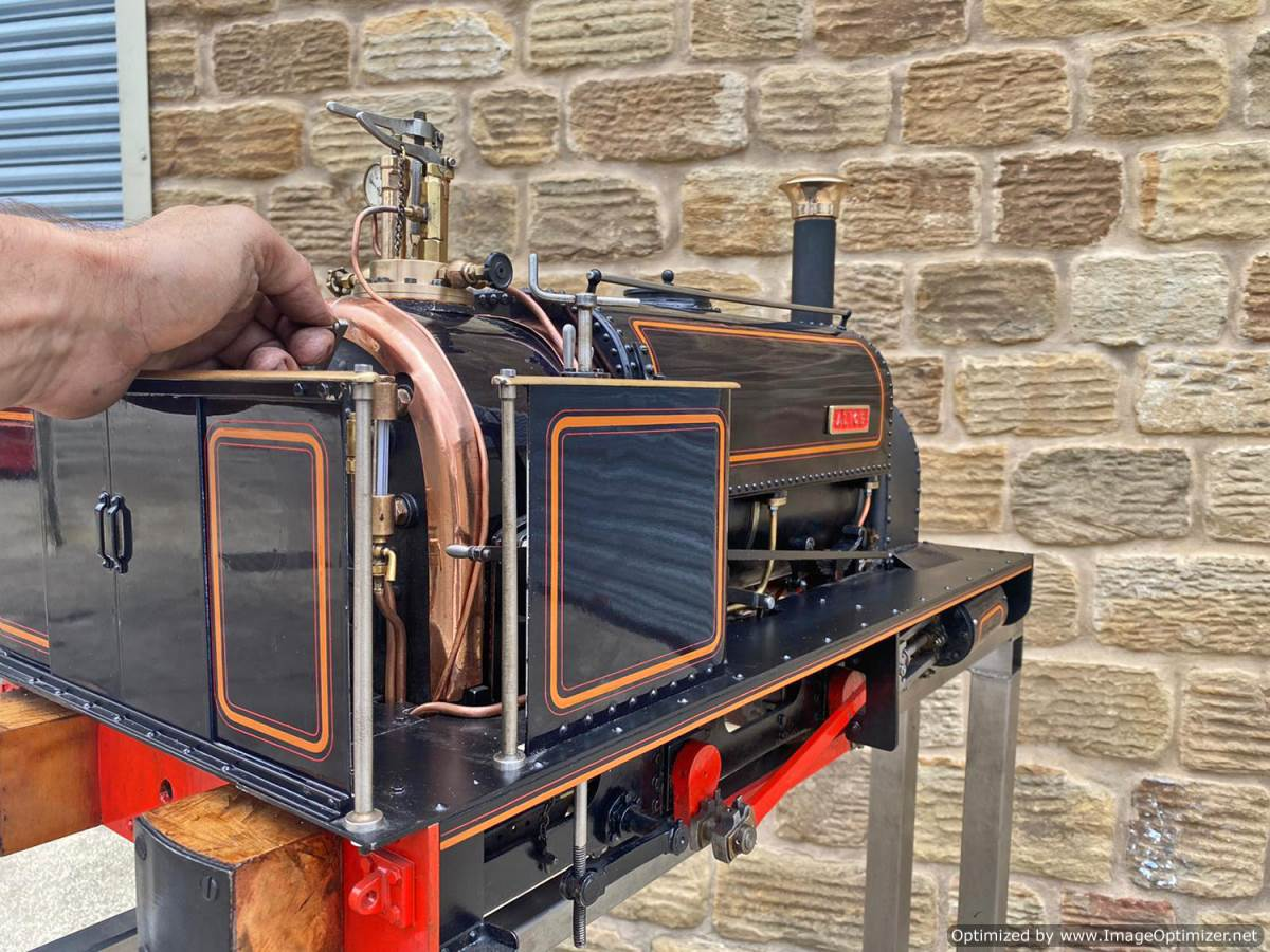 test 5 inch Quarry Hunslet Live Steam For Sale (24)