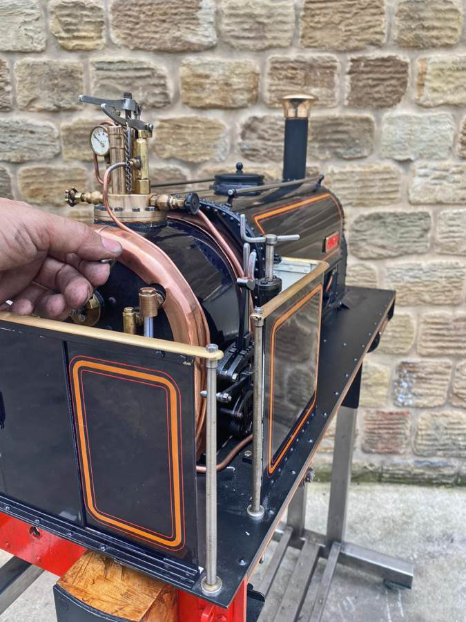 test 5 inch Quarry Hunslet Live Steam For Sale (26)