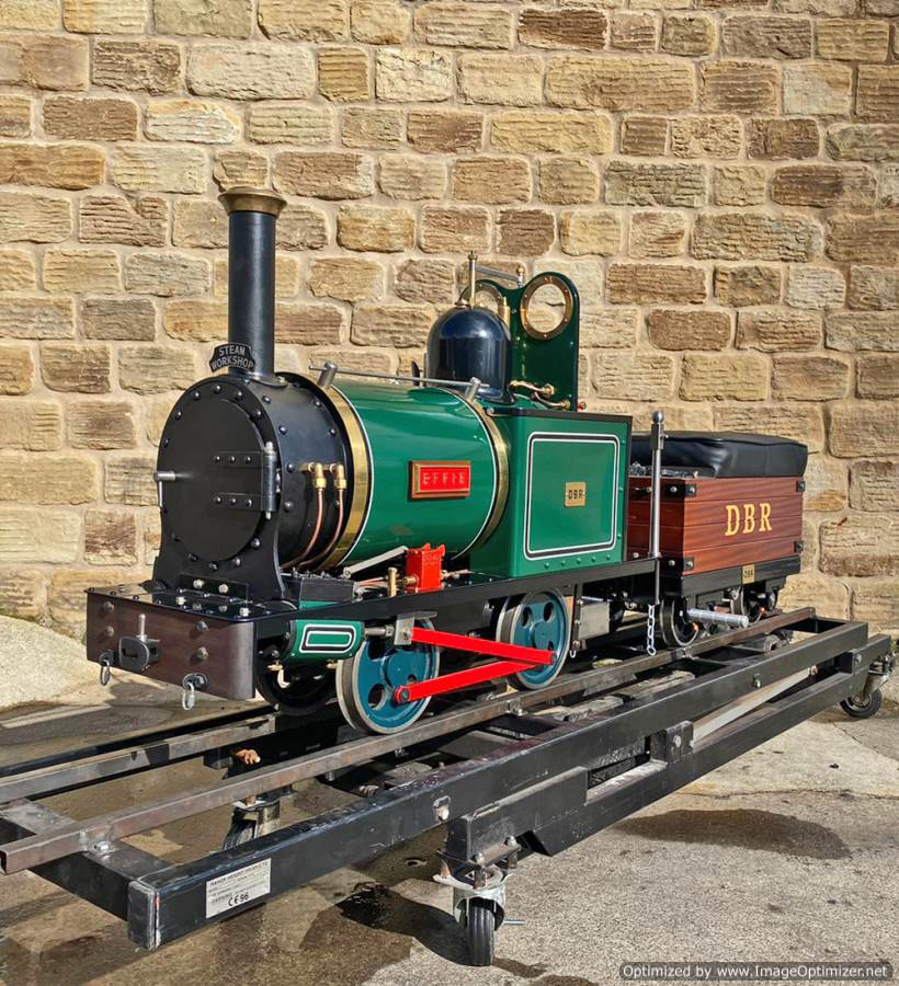 test 7 and a quarter Heywood Duffield Bank Effie Live Steam Locomotive For Sale (1)