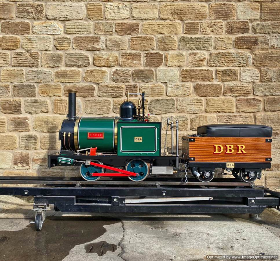 test 7 and a quarter Heywood Duffield Bank Effie Live Steam Locomotive For Sale (16)
