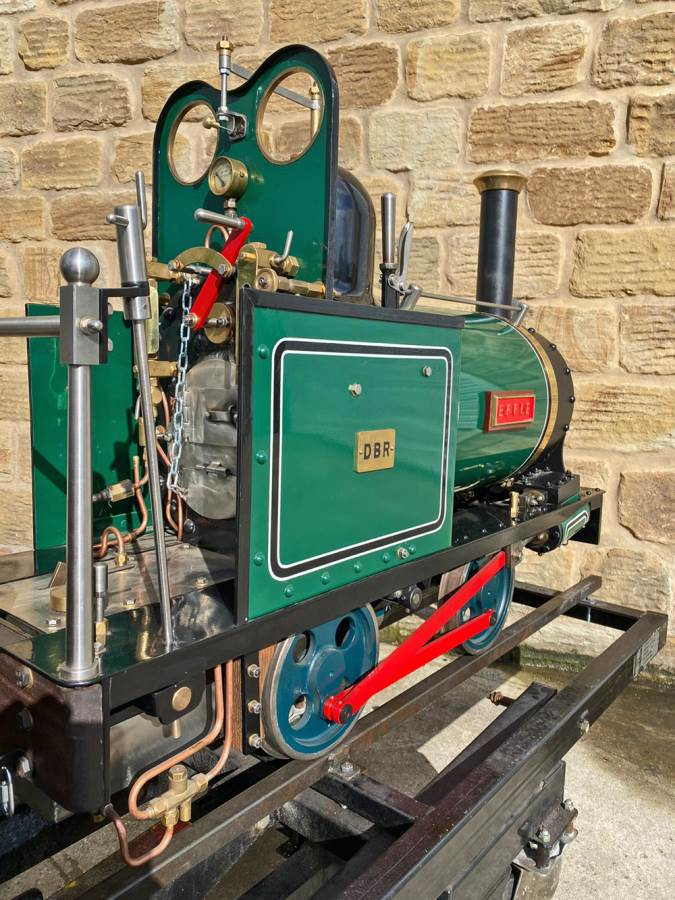 test 7 and a quarter Heywood Duffield Bank Effie Live Steam Locomotive For Sale (27)