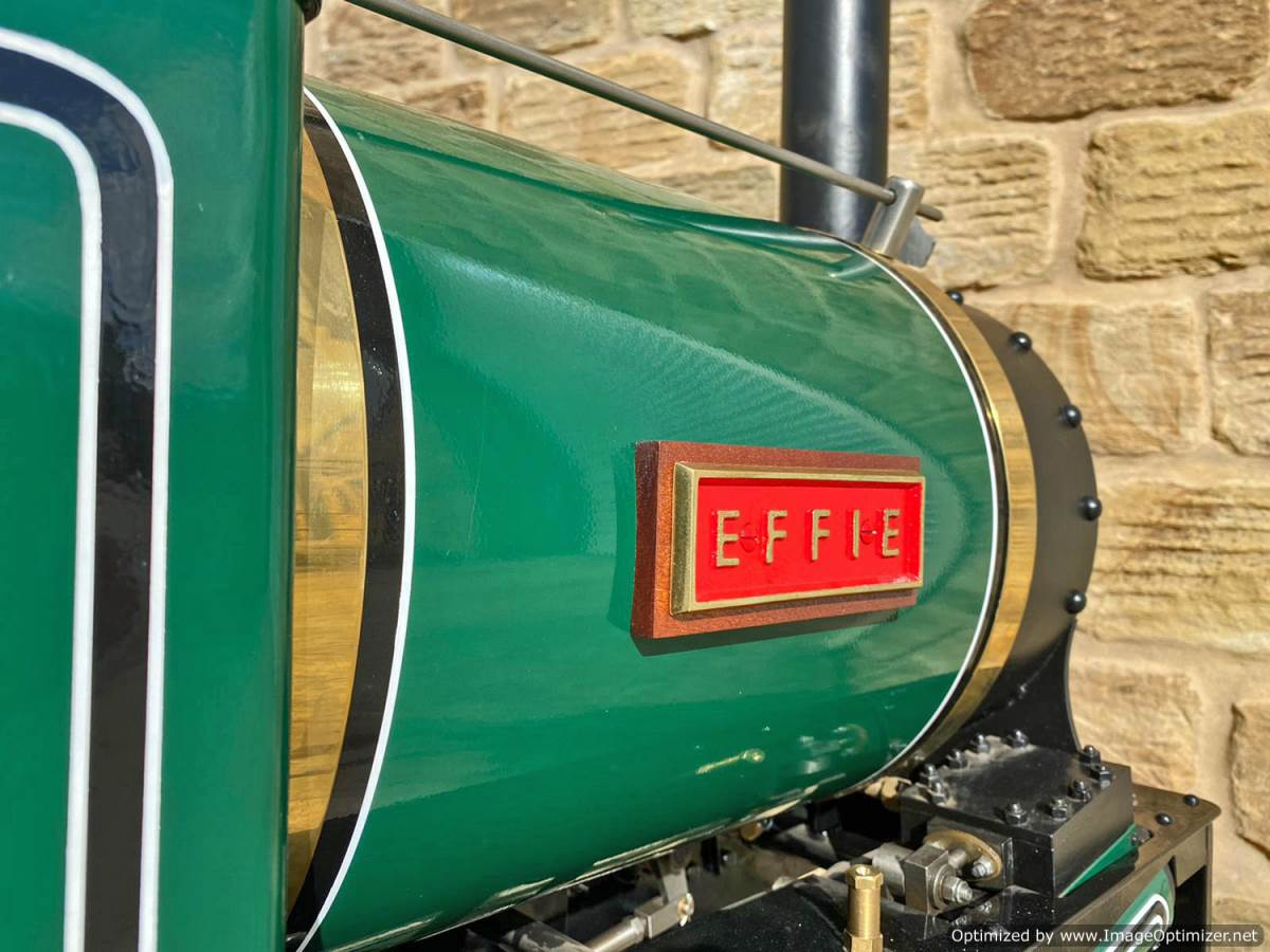test 7 and a quarter Heywood Duffield Bank Effie Live Steam Locomotive For Sale (29)