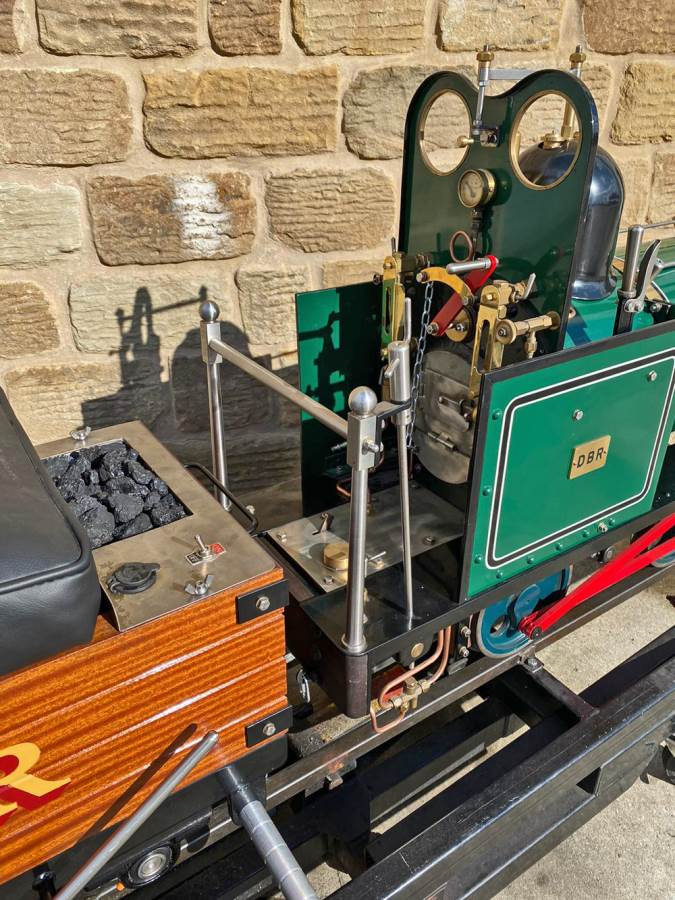 test 7 and a quarter Heywood Duffield Bank Effie Live Steam Locomotive For Sale (35)