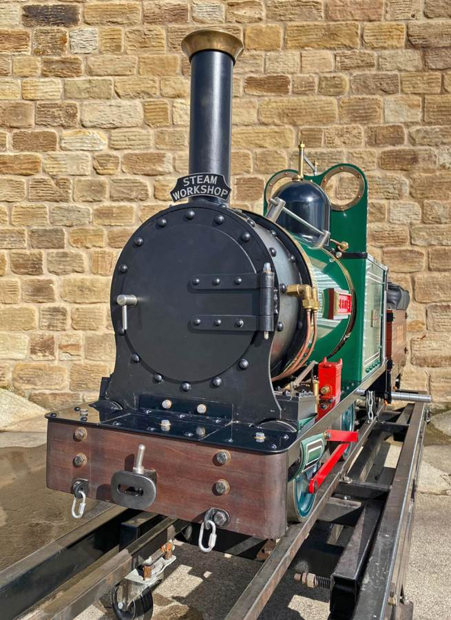 test 7 and a quarter Heywood Duffield Bank Effie Live Steam Locomotive For Sale (7)