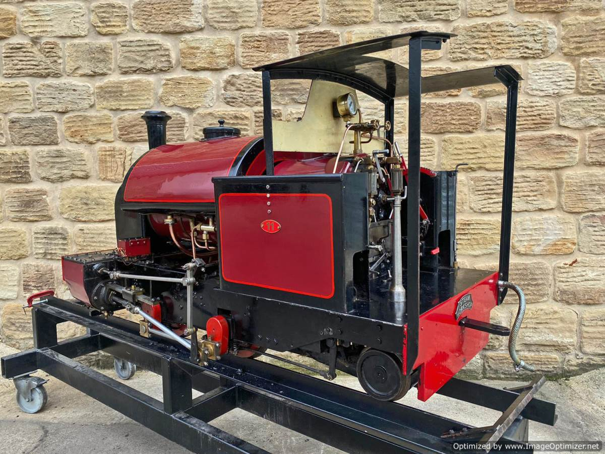 test 7 and a quarter Kerr Stuart Tattoo Hunslet Live Steam Locomotive for sale (16)