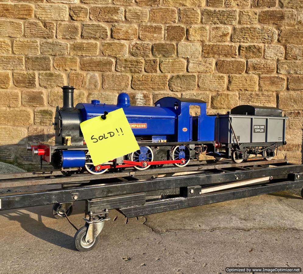 test 7-and-a-quater-inch-Holmside-live-steam-locomotive-SOLD